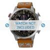 Cinturino per orologio Seiko V176-0AG0 / SSC421P1 Pelle Cognac 20mm