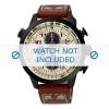 Cinturino per orologio Seiko SSC425P1 / V176 0AG0 Pelle Marrone 20mm
