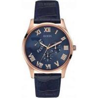 Cinturino per orologio Guess W0608G2 Pelle Blu 22mm