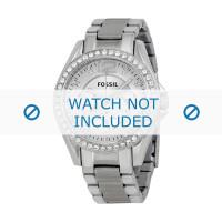 Fossil cinturino dell'orologio ES3202 Push pin  Metallo Argento 18mm