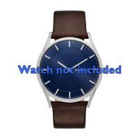 Cinturino per orologio Skagen SKW6237 Pelle Marrone 22mm