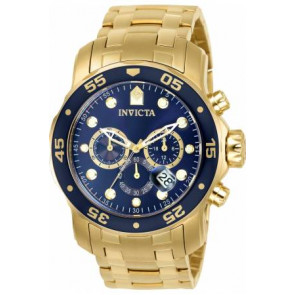 Cinturino per orologio Invicta 0073 / 0072 / 0074 / 0075 / 80064 / 80065 / 80068 / 80069 Acciaio Placcato oro 19mm