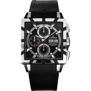Cinturino per orologio Edox 348349-01105 / 222193 Gomma Nero 27mm
