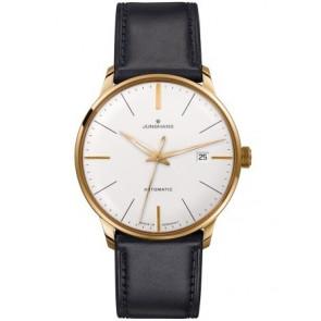 Cinturino per orologio Junghans 42050-6249 / 027/7312 Pelle Nero 20mm