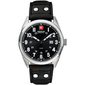 Cinturino per orologio Swiss Military Hanowa 06-4181.04.007 Pelle Nero 22mm