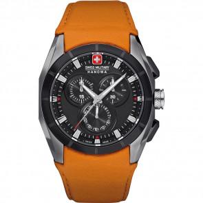 Cinturino per orologio Swiss Military Hanowa 06-4191.33.007.79 Pelle Arancione
