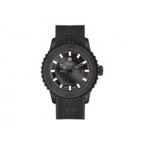 Cinturino per orologio Swiss Military Hanowa 6-4281.27.007 Twilight Silicone Nero