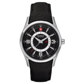 Cinturino per orologio Swiss Military Hanowa 06-6155.04.007 Pelle Nero
