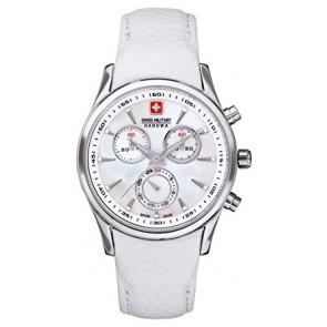 Cinturino per orologio Swiss Military Hanowa 06.6156.04.001-87 Pelle Bianco
