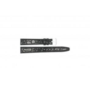 Cinturino orologio in pelle di coccodrillo, laccato, 10mm 082