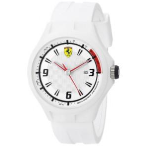 Ferrari cinturino dell'orologio SF101.1 / 0830003 / SF689309000 / Scuderia Gomma Bianco 22mm