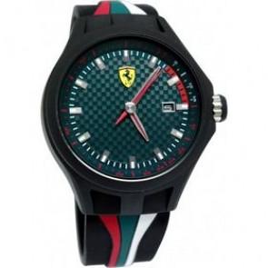 Ferrari cinturino dell'orologio SF101.5 / 0830070 / SF689300050 Gomma Nero 22mm