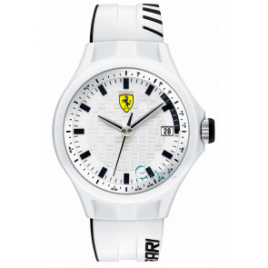 Ferrari cinturino dell'orologio SF101.6 / 0830124 / SF689300071 / Scuderia Silicone Bianco 22mm