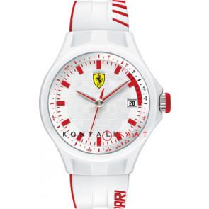 Ferrari cinturino dell'orologio SF101.6 / 0830127 / SF689300079 / Scuderia Gomma Bianco 22mm