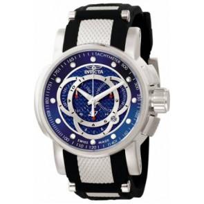 Cinturino per orologio Invicta 0893.01 / 0894.01 / 0895.01 Gomma Nero