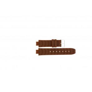 Jacques Lemans cinturino dell'orologio 1-1696 / BK-2892 Silicone Marrone 12mm