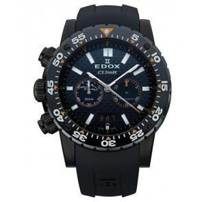 Cinturino per orologio Edox 10301 / Loc-22 Gomma Nero