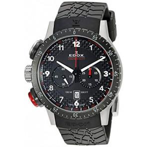 Cinturino per orologio Edox 10305 Gomma Nero 23mm