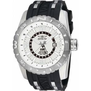 Cinturino per orologio Invicta 10681.01 Gomma Nero