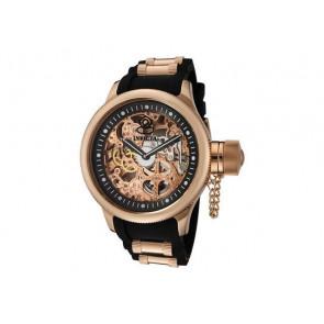 Cinturino per orologio Invicta 1090.01 / 10136.01 / 17267.01 Gomma Nero