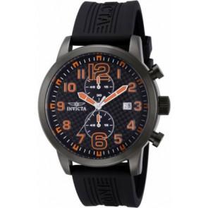 Cinturino per orologio Invicta 11244.01 Gomma Nero 24mm