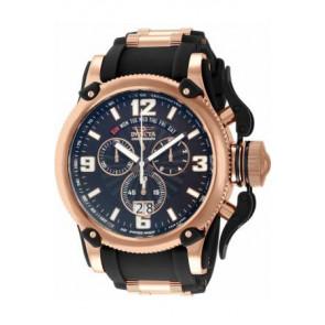 Cinturino per orologio Invicta 12434 Silicone Nero 26mm