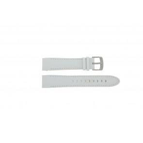 Police cinturino dell'orologio 12898JS-02A Pelle Bianco 22mm + cuciture bianco