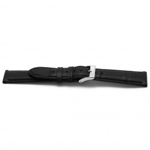 Cinturino orologio in vera pelle di alligatore, nero, 20mm EX-G134