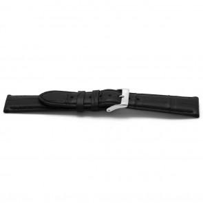 Cinturino orologio in vera pelle di alligatore, nero, 22mm EX-H134