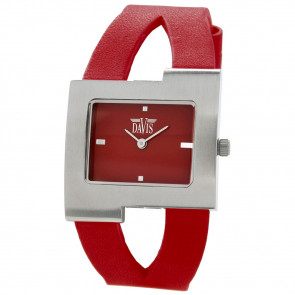 Cinturino per orologio Davis BB1404 Pelle Rosso 10mm