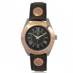 TOV Essentials cinturino dell'orologio 1459 / TOV Pelle Grigio 18mm + cuciture grigio