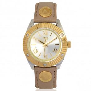 TOV Essentials cinturino dell'orologio 1463 / TOV Pelle Marrone chiaro 18mm + cuciture beige