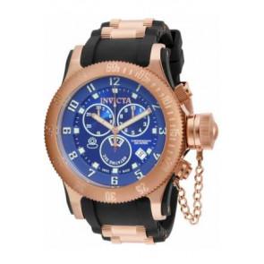 Cinturino per orologio Invicta 15569.01 / 15568 Gomma Nero 26mm