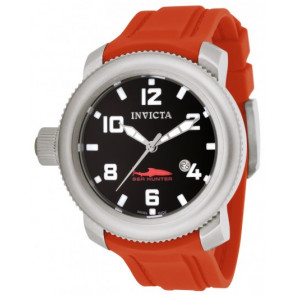 Cinturino per orologio Invicta 1691 Sea Hunter Silicone Rosso