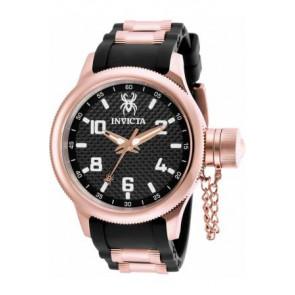 Cinturino per orologio Invicta 17948 Gomma Nero