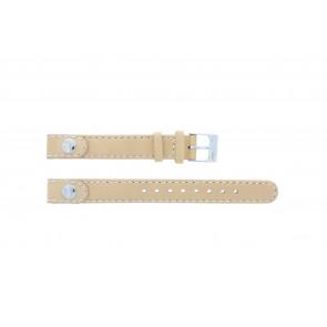 Lacoste cinturino dell'orologio 2000385 / LC-05-3-14-0009 / BE Pelle Beige 12mm + cuciture di default