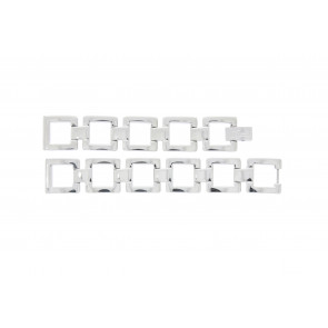 Lacoste cinturino dell'orologio 2000490 / LC-05-3-18-0161 Metallo Argento 13mm