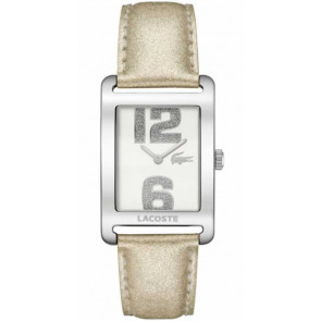 Cinturino per orologio Lacoste 2000674 / LC-51-3-14-2261 Pelle Beige 20mm