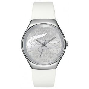 Lacoste cinturino dell'orologio 2000785 / LC-71-3-14-2444 Silicone Bianco 18mm