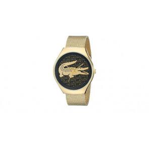 Lacoste cinturino dell'orologio 2000873 / LC-71-3-34-2470 Metallo Placcato oro 18mm