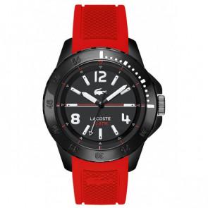 Lacoste cinturino dell'orologio LC-75-1-29-2467 / 2010737 / 22mm Gomma Rosso 22mm