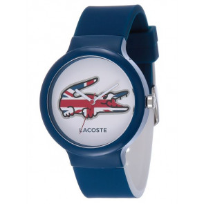 Lacoste cinturino dell'orologio LC-46-4-47-2502 / 2020072 / 20mm Gomma Blu 14mm