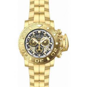 Cinturino per orologio Invicta 22132.01 Acciaio Placcato oro 30mm