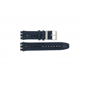 Cinturino per orologio Swatch 247.11M Pelle Blu 20mm