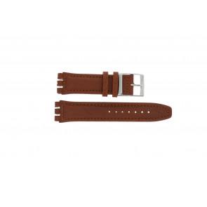 Cinturino per orologio Swatch 247.02PL Pelle Marrone 20mm