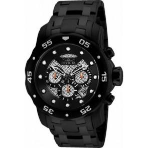 Cinturino per orologio Invicta 25334.01 Acciaio Nero 26mm