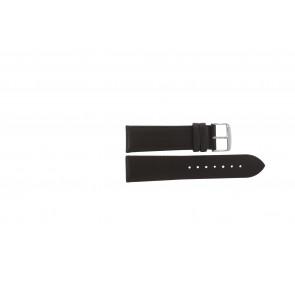 Cinturino orologio in vera pelle, marrone scuro, 22mm 283