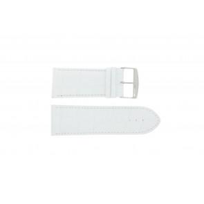 Cinturino per orologio Universale 305.09 Pelle Bianco 26mm