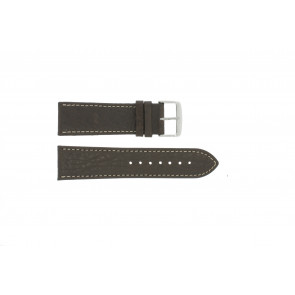 Cinturino dell'orologio 307.02 Pelle Marrone 18mm + cuciture bianco