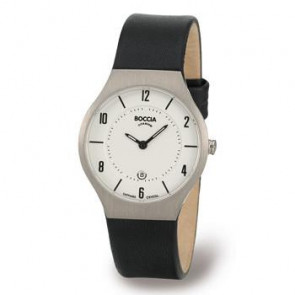 Cinturino per orologio Boccia 3193-01 (BO811 X367S16) Pelle Nero 15mm